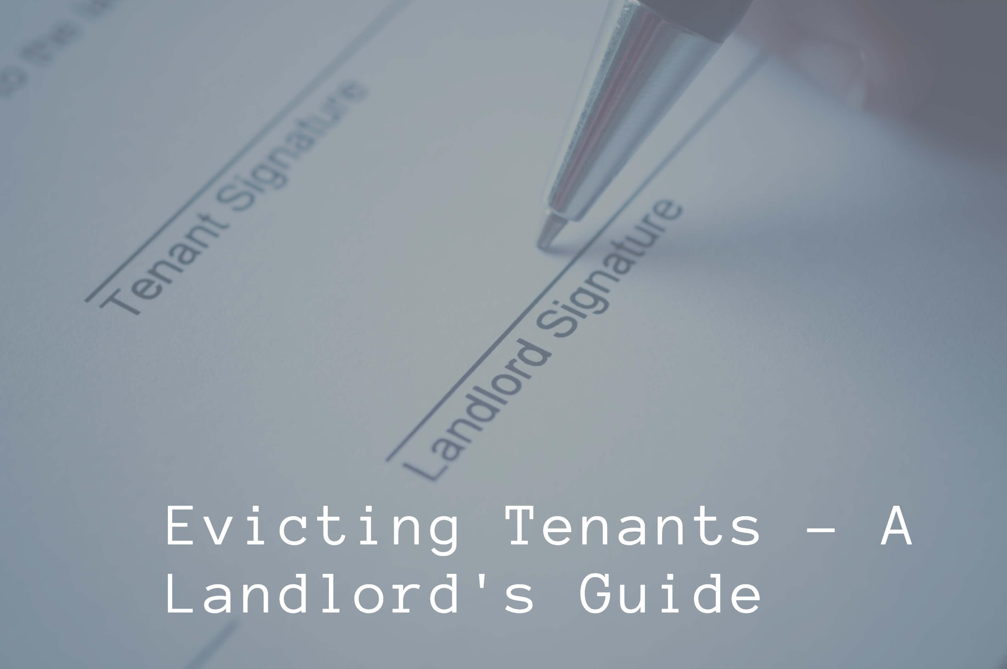Evicting-Tenants